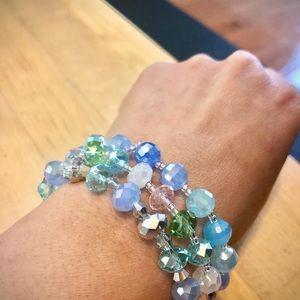 Set of Swarovski Crystal bead bracelet